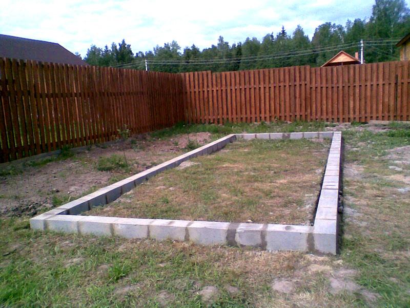 Прочный фундамент обеспечивает надёжность конструкции