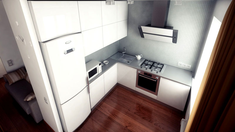 Найти место для большого холодильника сложнее всего на маленькой кухне