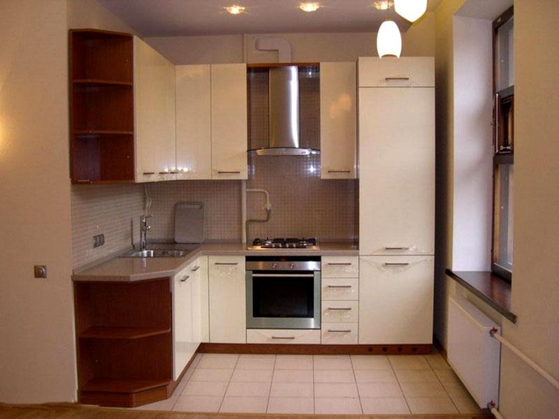 На маленькой кухне нужно задействовать каждый сантиметр свободного пространства