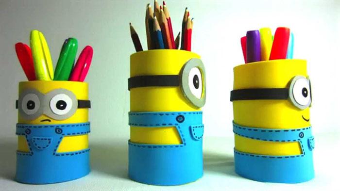 Несложные подставки для карандашей