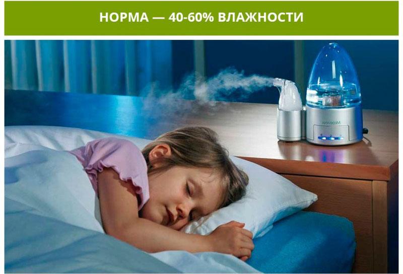 Во сне мы более уязвимы, поэтому увлажнять воздух лучше всего на ночь или вечером
