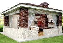 Летняя кухня на даче: проекты, фото