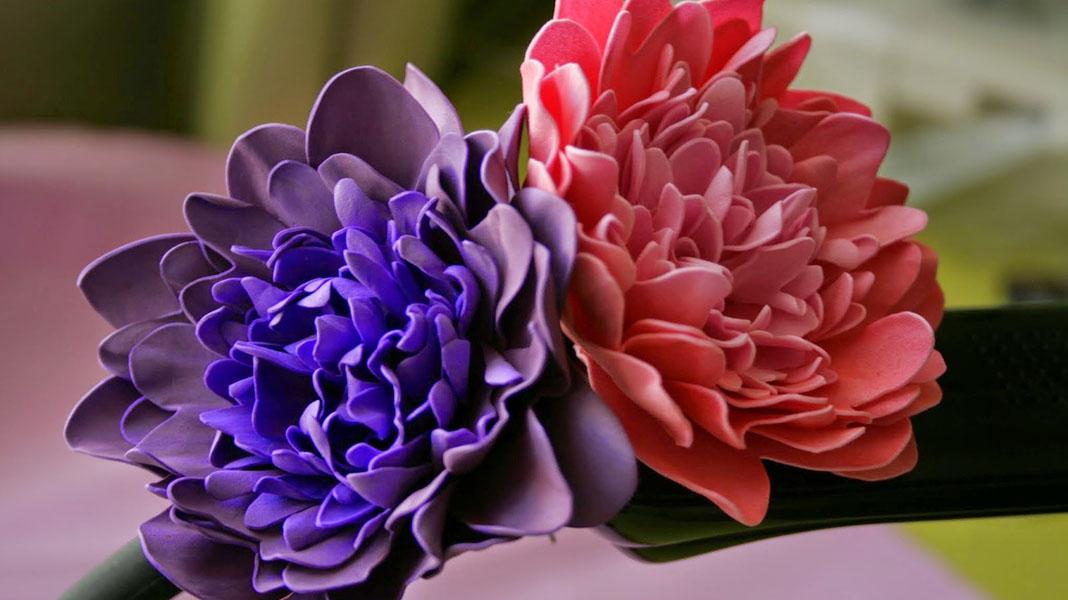 miniatyura Мастер класс цветы из фоамирана