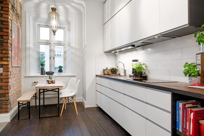Просто о главном: 25 красивых фото готовых интерьеров кухни в скандинавском стиле