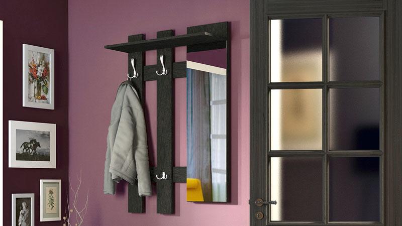 Настенная модель с закреплённым зеркальным полотном