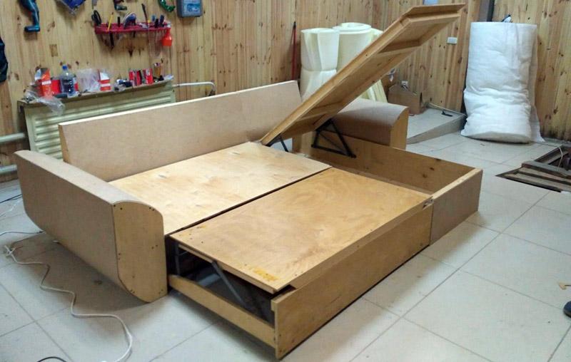 Раскладной диван из фанеры