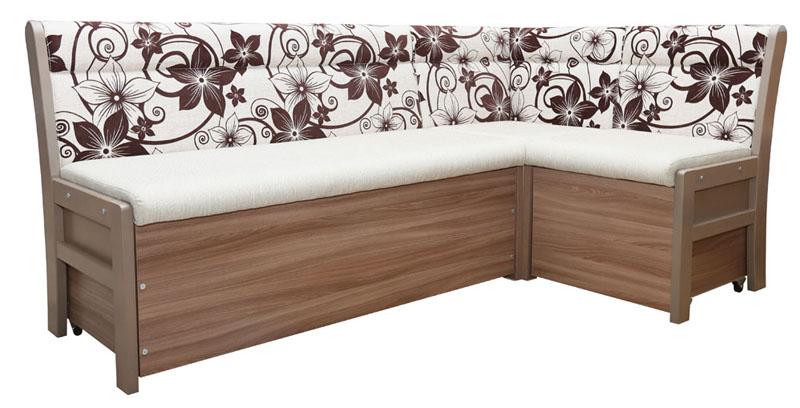 На фото угловой диван со спальным местом из кожзама