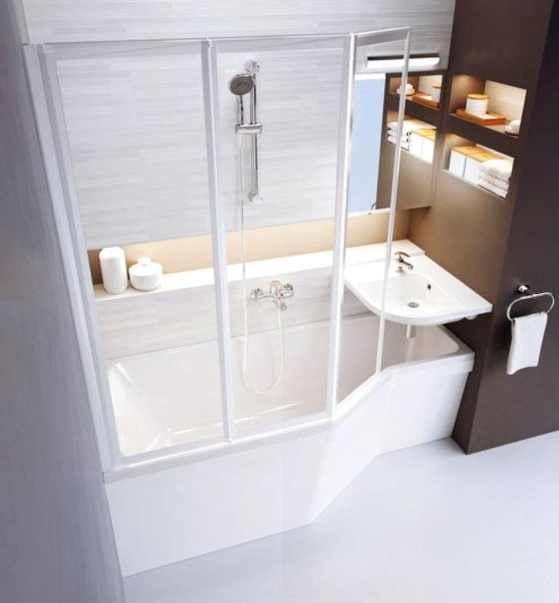 В ванных комнатах, совмещённых с туалетом, есть вариант установить умывальник над сливным бачком или выбрать более узкую модель