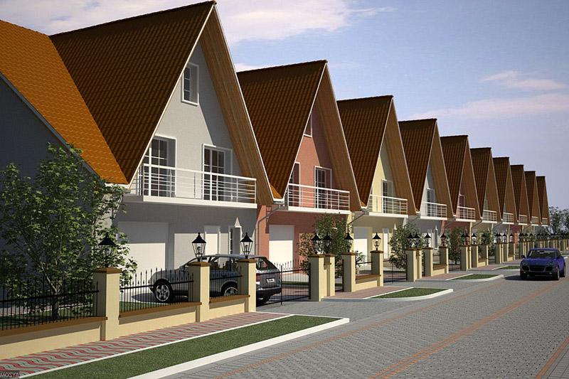 Проект застройки квартала таунхаусами