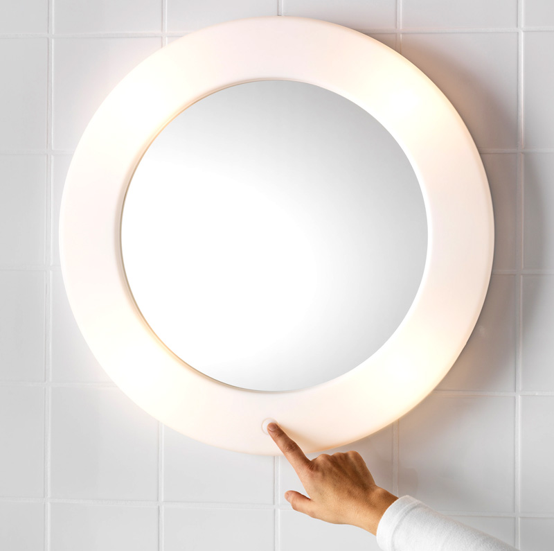Икеа зеркало с подсветкой – как всегда стиль и сдержанность