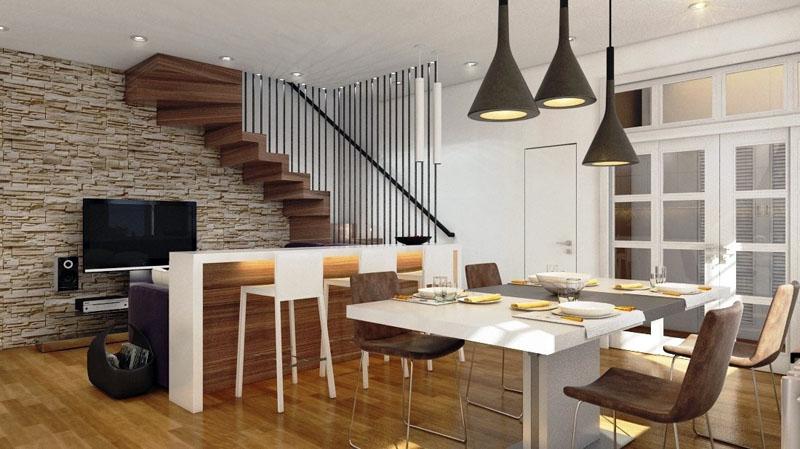 Проект дизайна первого этажа