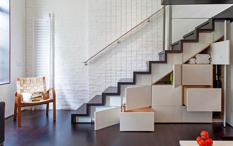 Практичная лестница-шкаф