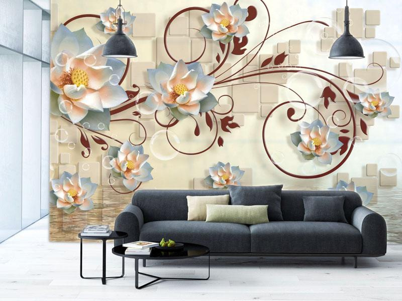 Немного фантазийных узоров, красивых цветов и роскошный интерьер готов
