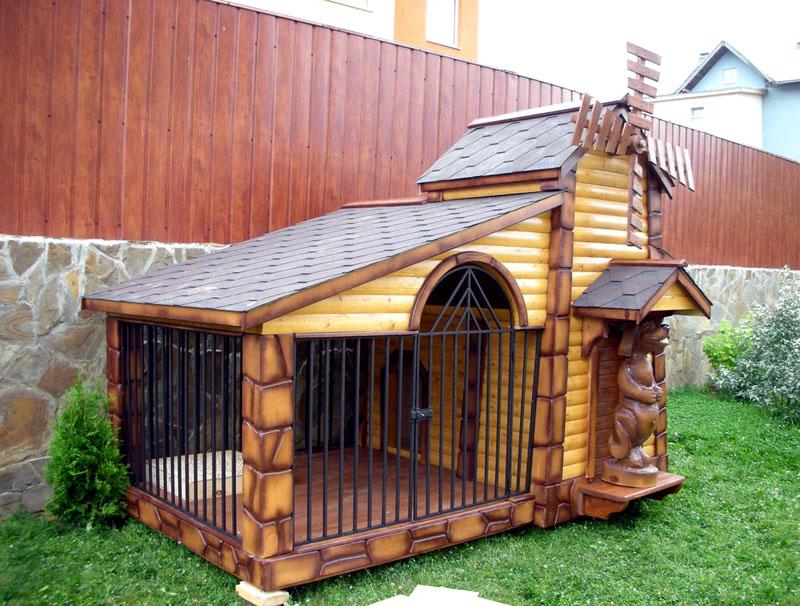 Капитальный вольер для небольших собак