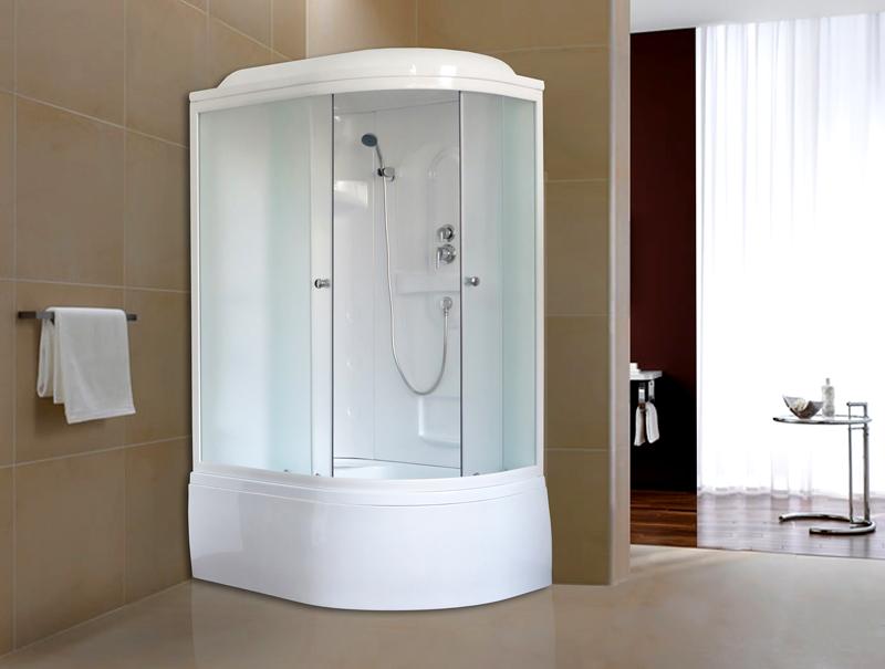 Для любителей принятия ванны подойдёт вариант душевой кабины с глубоким поддоном