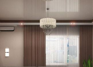 Натяжные потолки для зала: фото