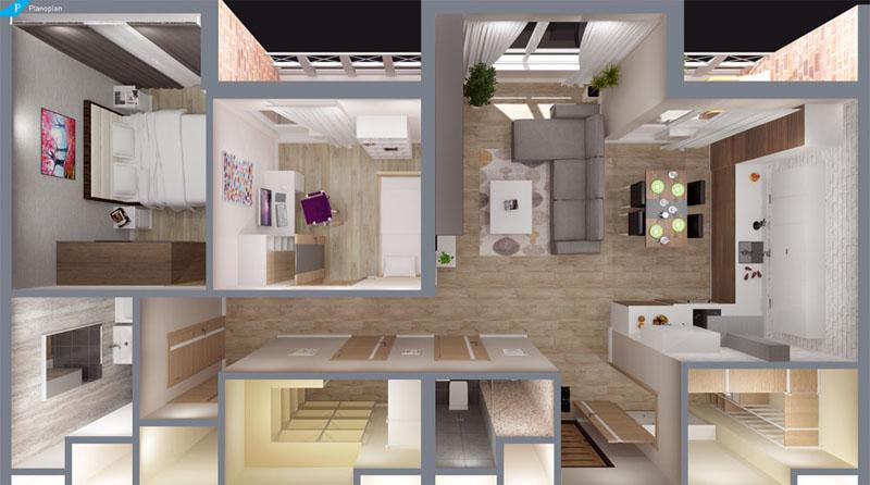 3D дизайн-проект в программе «Planoplan»