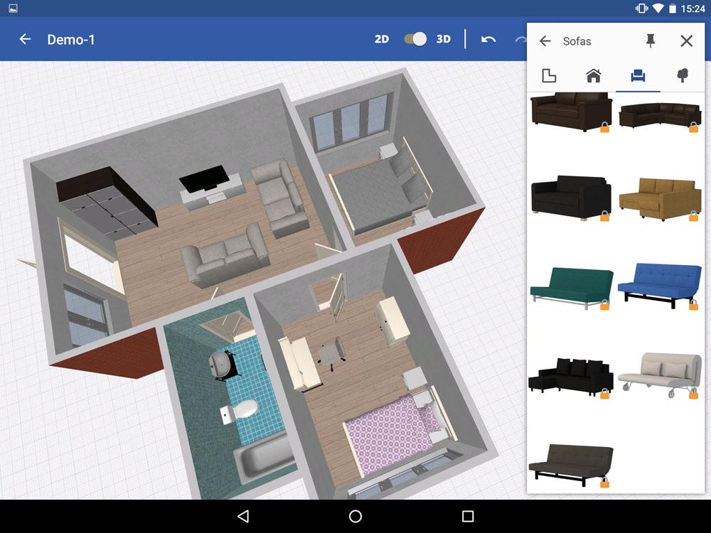 В каталоге «IKEA Home Planner» все предметы только данного производителя