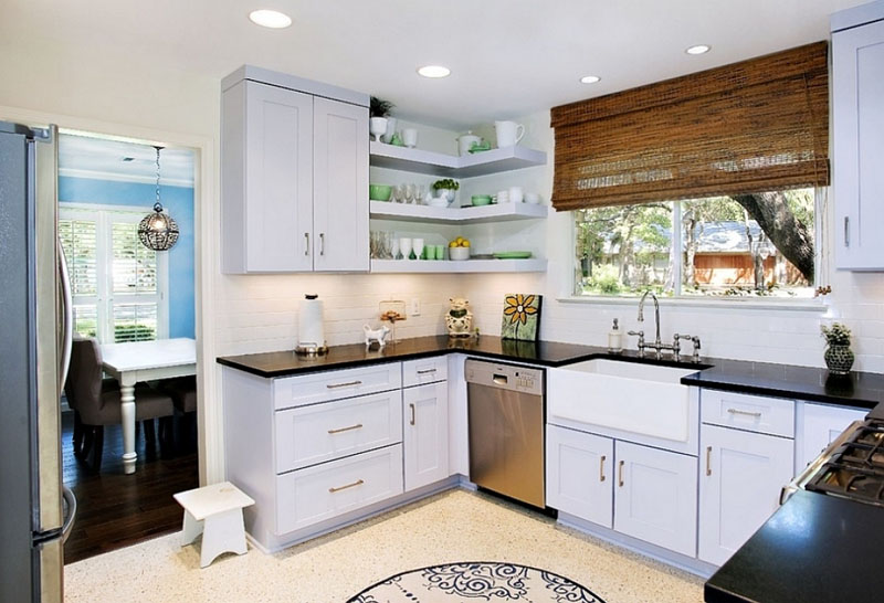 Необычное решение для кухни – 50 уникальных фото настенных полочек в интерьере