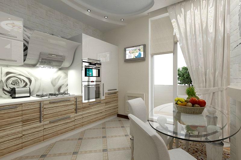 Светлая кухня визуально расширяет пространство