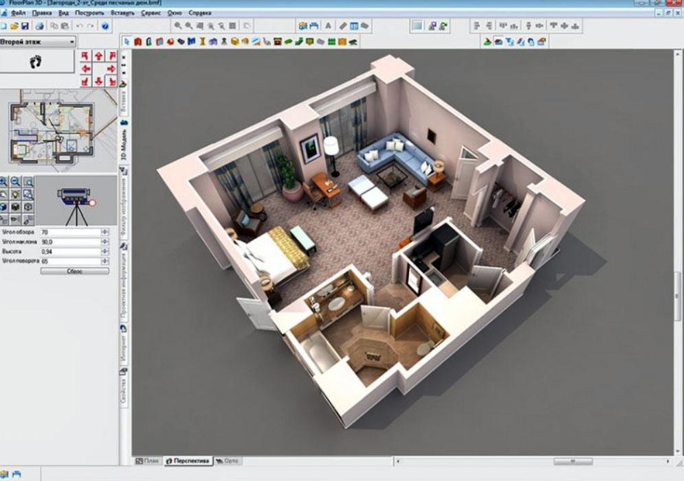 В сервисе «FloorPlan 3D» реализована возможность виртуального путешествия