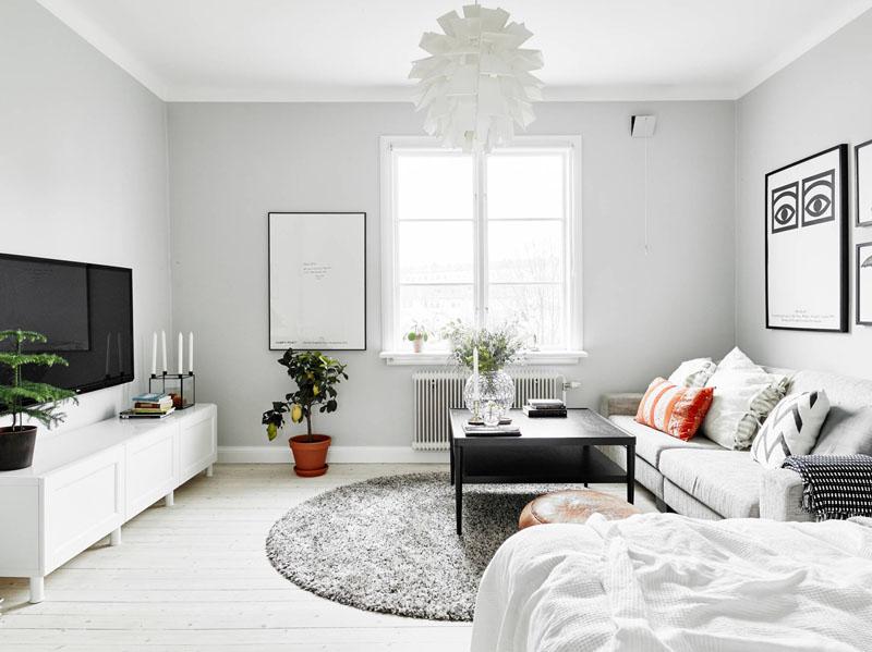 Скандинавский белый цвет в оформлении
