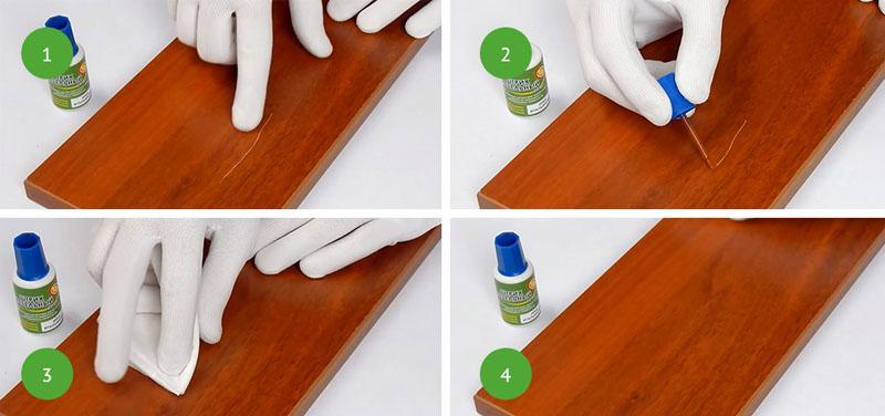 Порядок обработки поверхностей мебельным штрихом