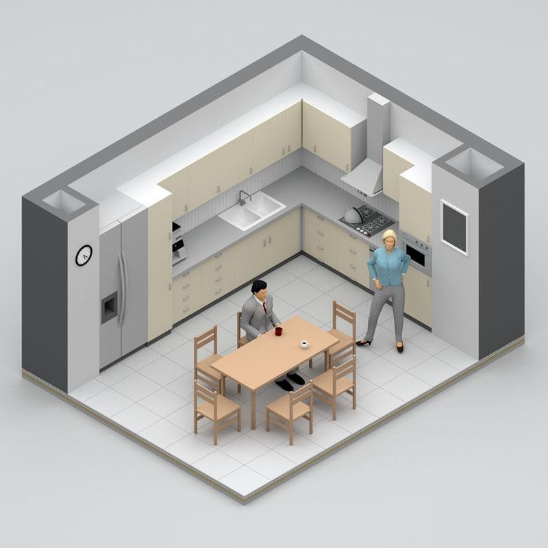 Во время планирования расположения бытовой техники не нужно забывать о золотом треугольнике: плита, холодильник и мойка