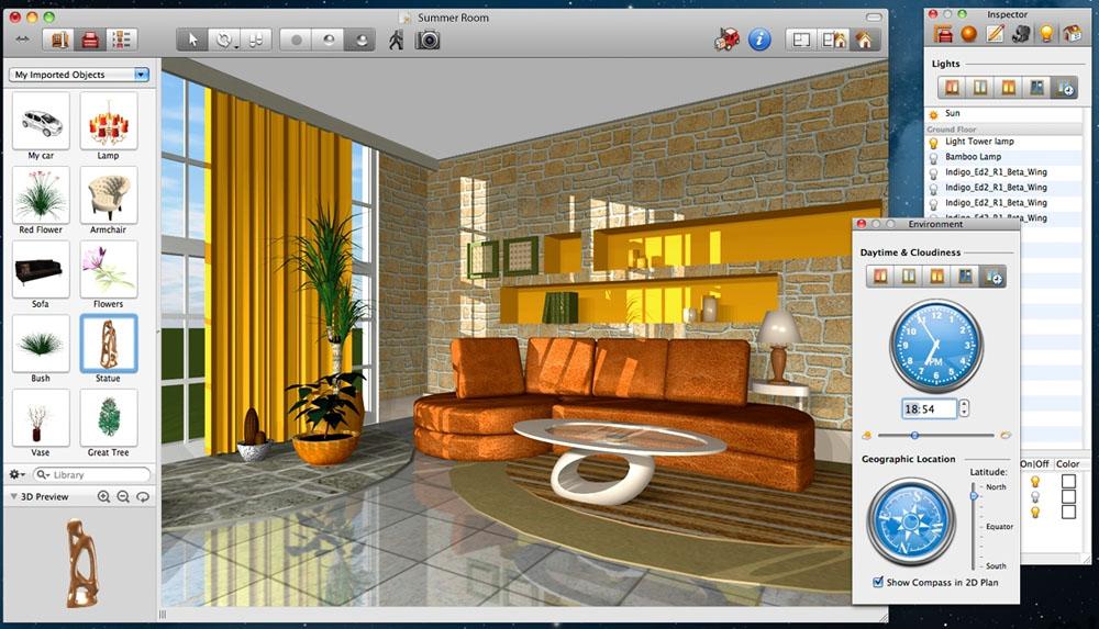 В каталогах доступны элементы декорирования и озеленения комнаты