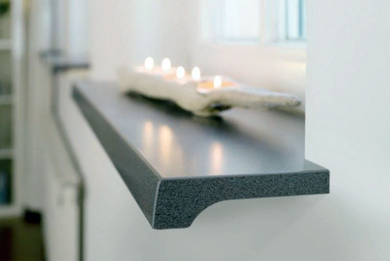 Недорогой подоконник из искусственного камня недорого от производителя− роскошь в простоте