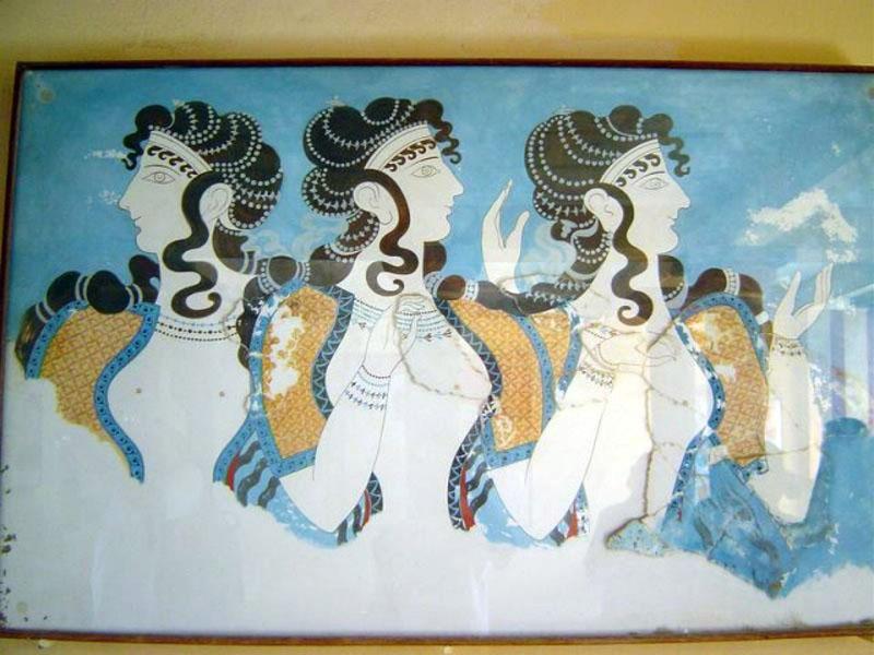 Греческая античная фреска