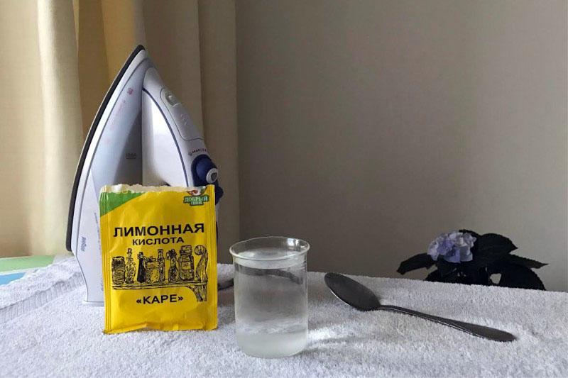 Лимонная кислота – хороший очиститель утюгов