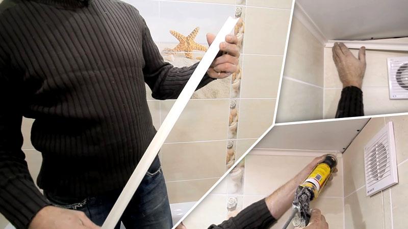 Коротко о том, как клеить плинтус потолочный полиуретановый