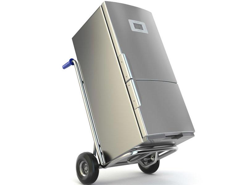 Можно воспользоваться специальной тележкой для перевозки оборудования