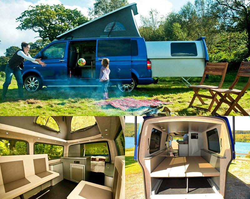 Дом на колёсах внутри и снаружина базе минивэна марки«Фольксваген»