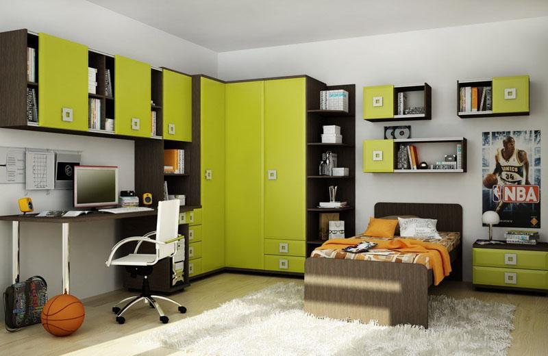Грамотно подобранная мебель в комнату мальчика-подростка