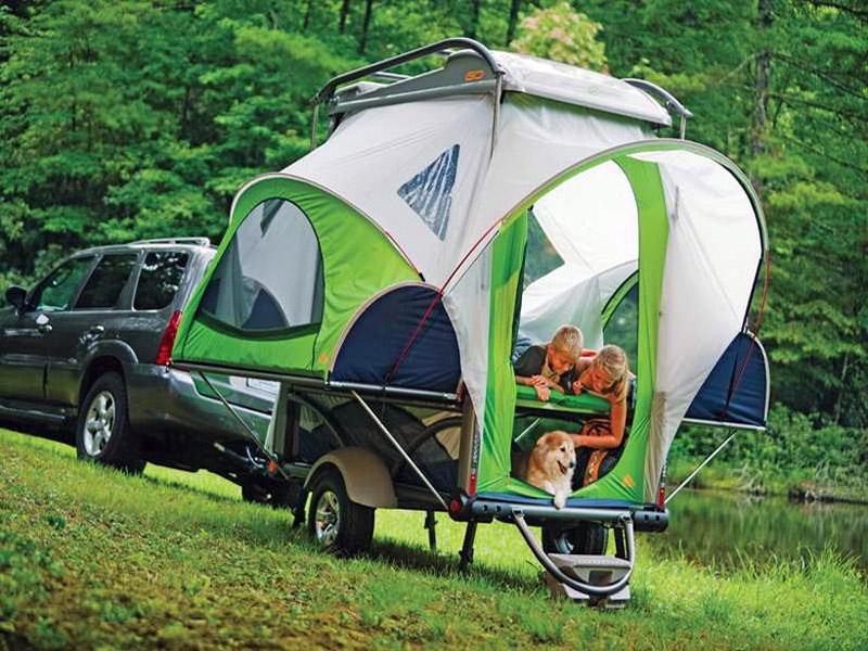 Прицеп-палатка из ткани