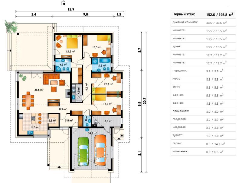Интересные проекты домов из пеноблоков