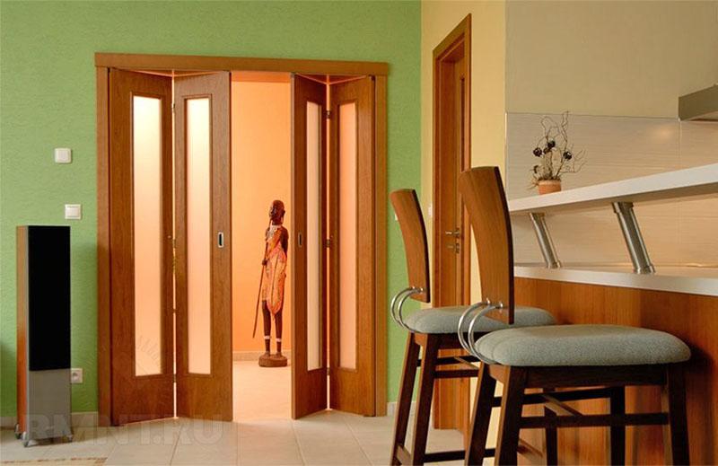 раздвижные межкомнатные двери гармошки особенности модели