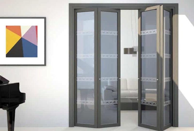 Раздвижные межкомнатные двери-гармошки – «играем» над стилевым оформлением интерьера