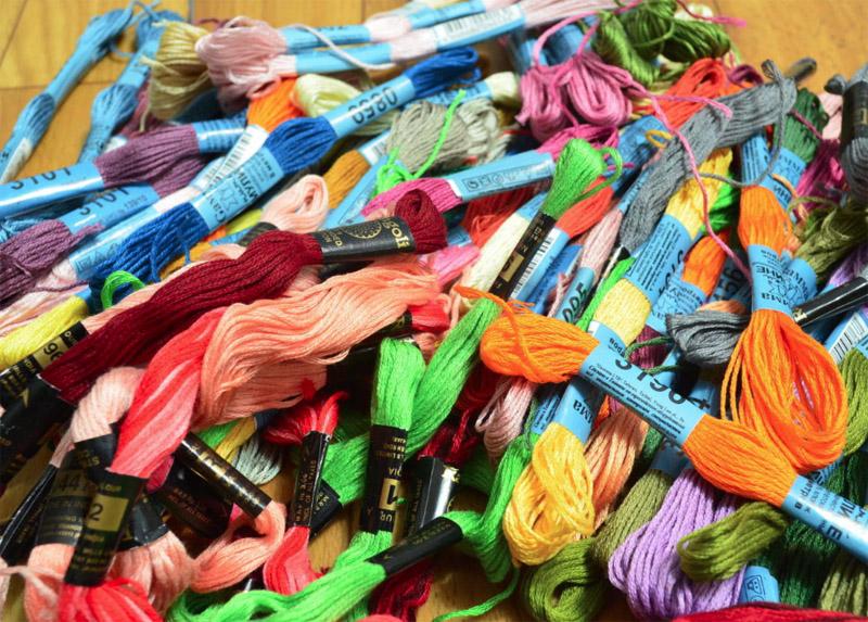 Ассортимент мулине для ручной вышивки