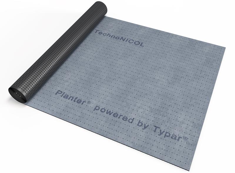 Один из ведущих производителей – компания ТехноНИКОЛЬ, выпускающая профилированные мембраны PLANTER