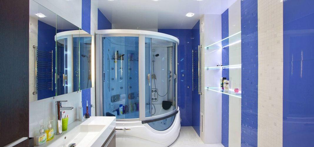 Можно ли делать в ванной натяжной потолок
