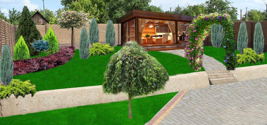 Ландшафтный дизайн заднего дворика японского дома