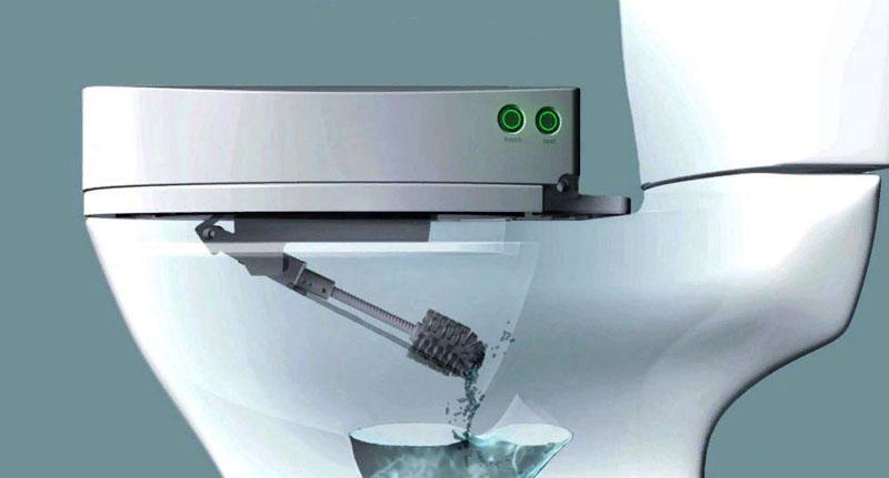 Сиденье для унитаза с автоматической системой очистки чаши