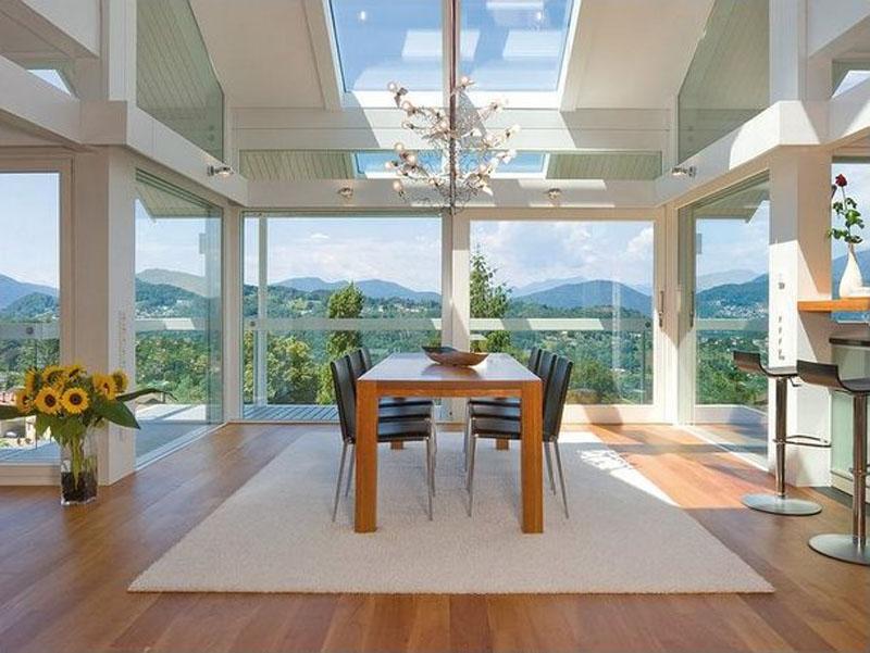 Интерьер внутри «стеклянного дома»