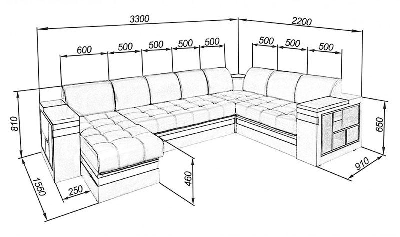 Сиденье для одного человека должно быть не менее 50 см