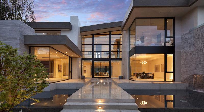 Дома в стиле хай тек: фото