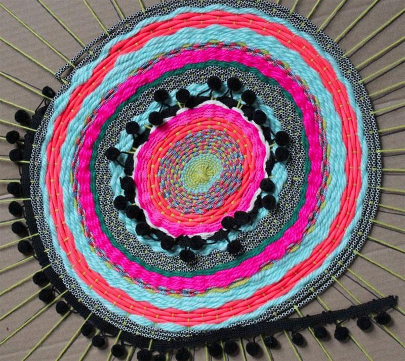 Коврик из лоскутов круглой формы