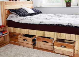 Кровать из поддонов своими руками пошагово: фото